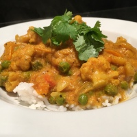 Korma with Parsnips and Cauliflower