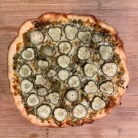Dill Pickle Pizza for Two